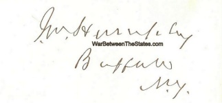 Autograph, James M. Humphrey