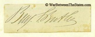 Autograph, General Benjamin F. Butler (Image1)