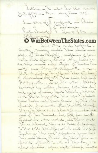 Autograph, General Thomas W. Bennett (Image1)