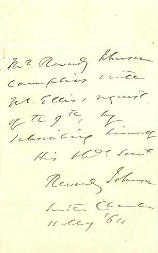 Autograph, Reverdy Johnson (Image1)