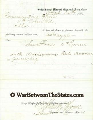 Autograph, Lieutenant Samuel B. Horne (Image1)
