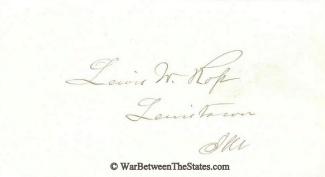 Autograph, Lewis W. Ross (Image1)