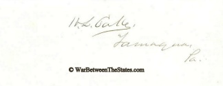Autograph, Henry L. Cake (Image1)