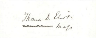 Autograph, Thomas D. Eliot