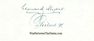 Autograph, Leonard Myers (Image1)