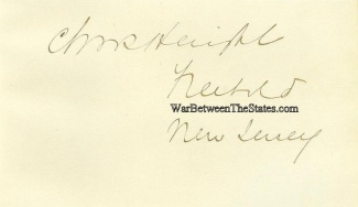 Autograph, General Charles Haight