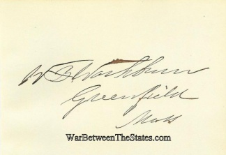 Autograph, William B. Washburn (Image1)