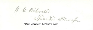 Autograph, General George G. Dibrell