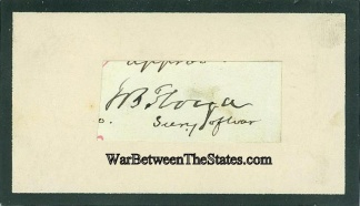 Autograph, General John B. Floyd (Image1)