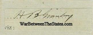 Autograph, General Hiram B. Granbury (Image1)