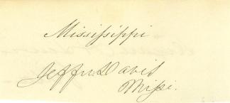 Autograph, President Jefferson Davis (Image1)