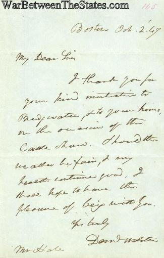 Autograph, Daniel Webster (Image1)