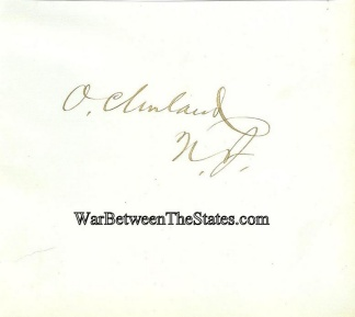 Autograph, Orestes Cleveland (Image1)