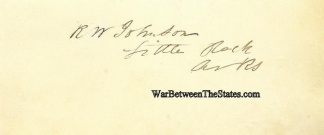 Autograph, Robert W. Johnson