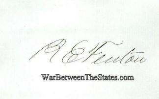 Autograph, Reuben E. Fenton (Image1)