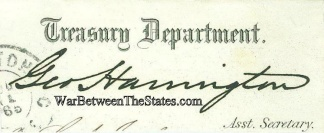 Autograph, George Harrington