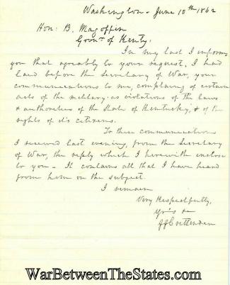 Autograph, John J. Crittenden (Image1)