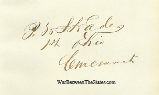 Autograph, Peter W. Strader