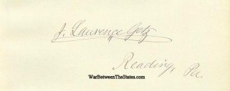 Autograph, James Lawrence Getz