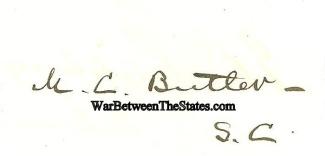 Autograph, General Matthew C. Butler (Image1)
