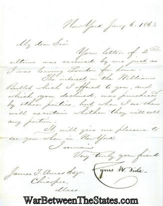 Autograph, Cyrus W. Field (Image1)
