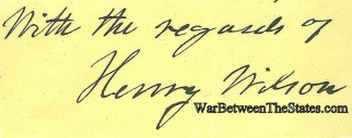Autograph, Henry Wilson