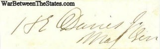 Autograph, General Henry E. Davies (Image1)