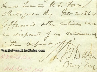 Autograph, General Napoleon J.T. Dana (Image1)