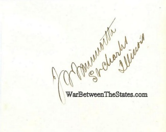 Autograph, General John F. Farnsworth