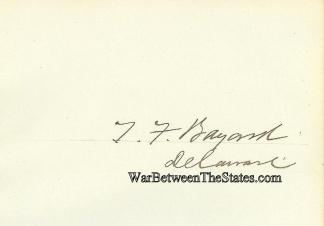 Autograph, Thomas F. Bayard (Image1)
