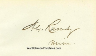 Autograph, Alexander Ramsey (Image1)