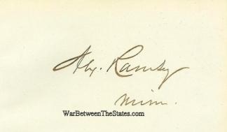 Autograph, Alexander Ramsey (Image1)