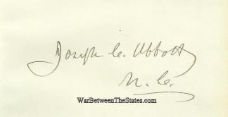 Autograph, General Joseph C. Abbott (Image1)