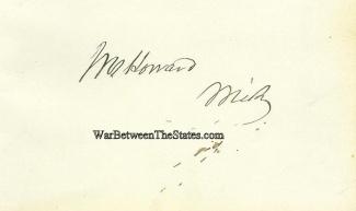 Autograph, Jacob M. Howard (Image1)