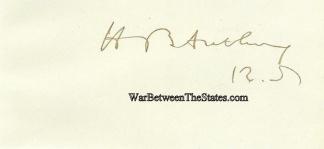 Autograph, Henry B. Anthony (Image1)