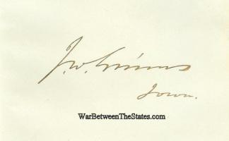 Autograph, James W. Grimes (Image1)