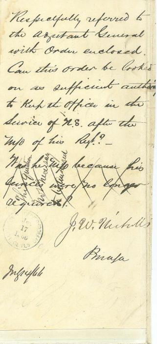 Autograph, Lieutenant Colonel James W. Nicholls (Image1)