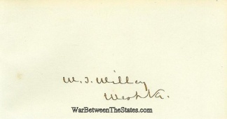 Autograph, Waitman T. Willey