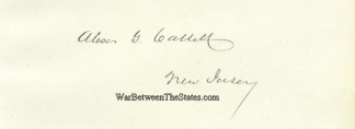 Autograph, Alexander G. Cattell (Image1)