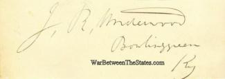 Autograph, Joseph R. Underwood (Image1)