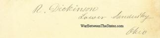 Autograph, Rodolphus Dickinson (Image1)