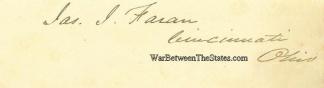 Autograph, James J. Faran (Image1)