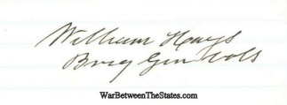 Autograph, General William Hays (Image1)