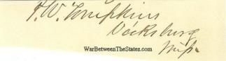 Autograph, Patrick W. Tompkins (Image1)