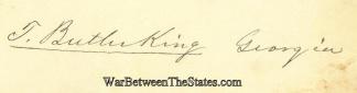 Autograph, Thomas Butler King (Image1)