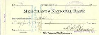 Autograph, Lieutenant George G. Benedict (Image1)