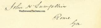 Autograph, John Henry Lumpkin (Image1)