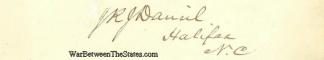 Autograph, John R.J. Daniel (Image1)