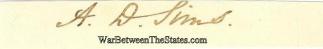 Autograph, Alexander D. Sims (Image1)