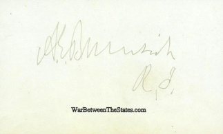Autograph, General Ambrose E. Burnside